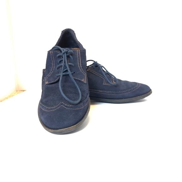 Zara Shoes | Zara Boys Blue Suede Shoes